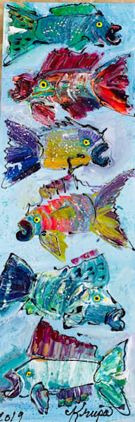 Fish Block Party Ocean Rebels Art | STACIE KRUPA FINE ART - THE COLLECTION
