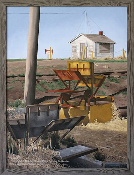 Sluice | Shed | Train Tracks | Colorado | Original Oil Painting