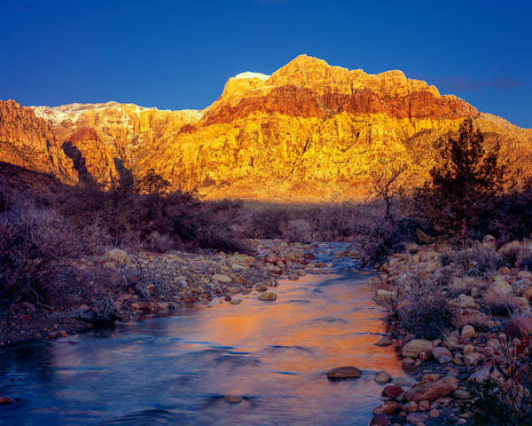 Red Rock Canyon Winter Water Photography Art   Craig Primas Photography