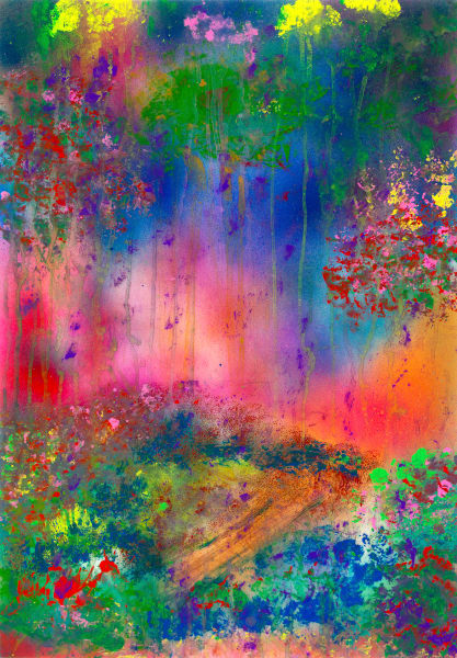 A Golden path   Abstract Art   JD Shultz Art