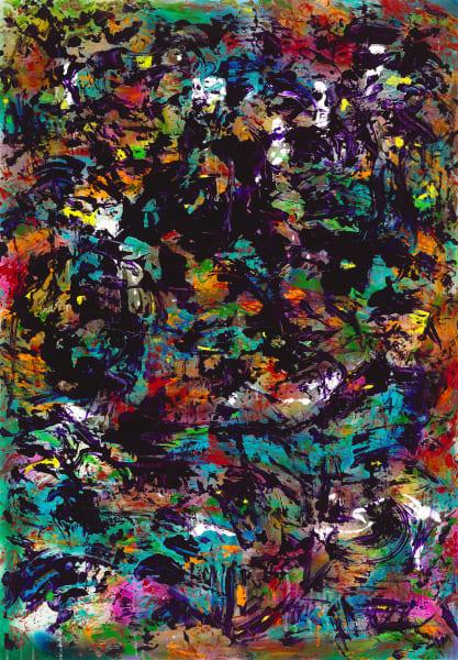 Where Light Meets Dark   Abstract Art   JD Shultz Art