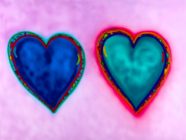 Love Times Two | Heart Art | JD Shultz Art