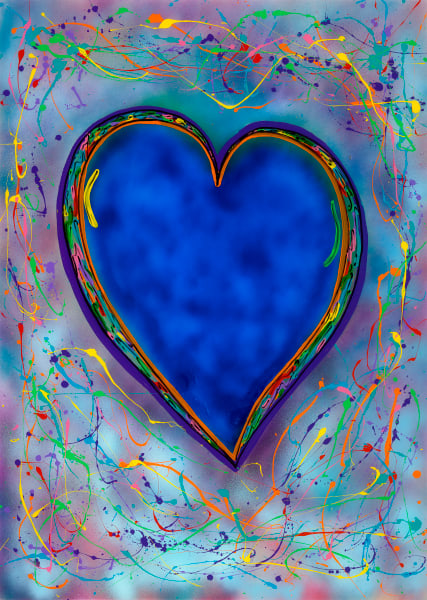 Blue Hearts Never Die | Animal Art | JD Shultz Art