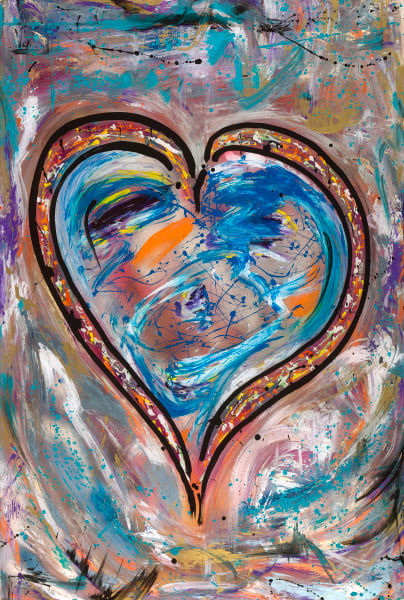 Blue Love | Heart Art | JD Shultz Art