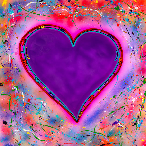 Violet Heart | Heart Art | JD Shultz Art