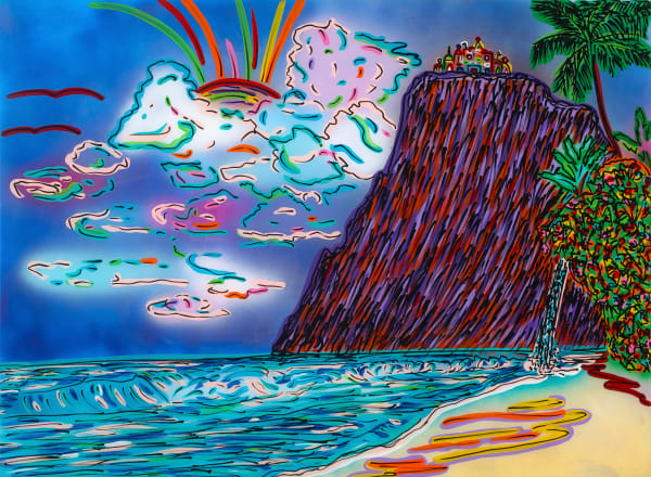 Dream House On A Cliff | Beach Art | JD Shultz Art