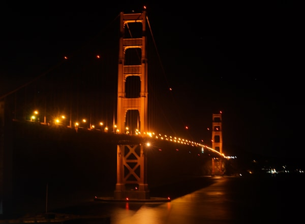Golden Gate At Night Photography Art | Drew Campbell Photography