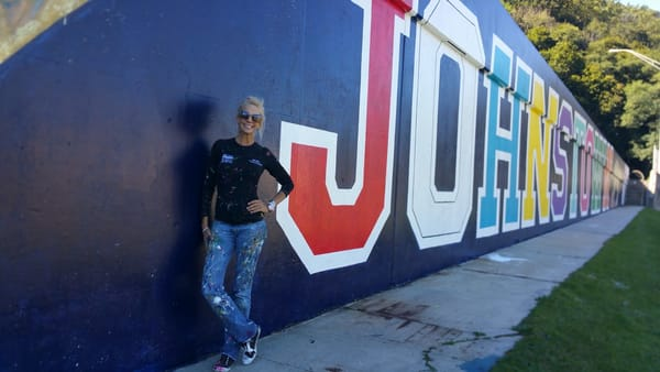 University Of Pittsburgh  Johnstown Mural Art | STACIE KRUPA FINE ART - THE COLLECTION