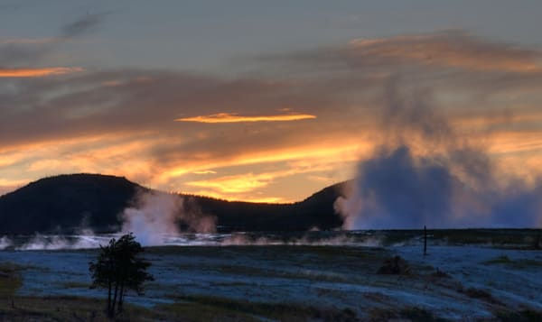 Sunset In Yellowstone Photography Art | Drew Campbell Photography