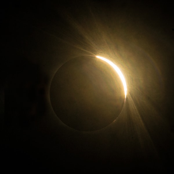 Emerging From Darkness Solar Eclipse Aug 2017 Art | Drew Campbell Photography