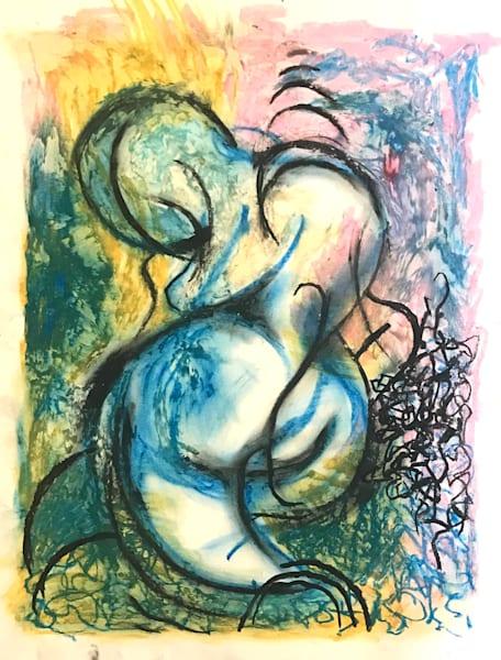 Blue Figure - Original