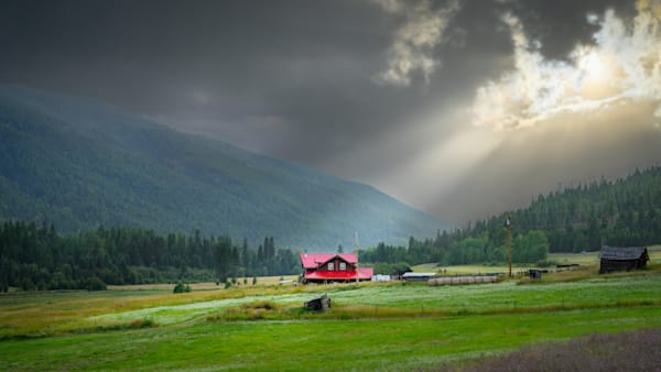 The Red Barn, Greenwood, Bc Art | Nelson Fine Art Printing