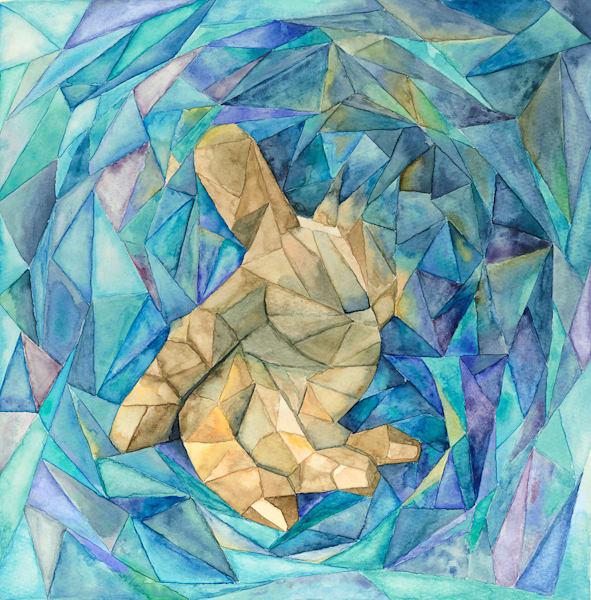 """Reaching Down"" fine art print by Matthew Campbell."