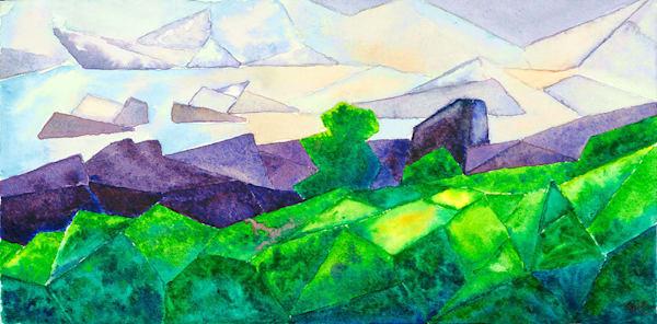 """Amboro Peaks"" fine art print by Matthew Campbell."