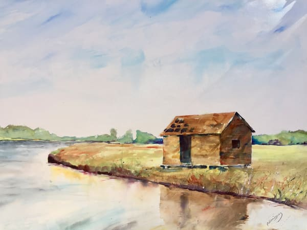 The Old Boat House On Bald Head Art | Patrick Dominguez Art