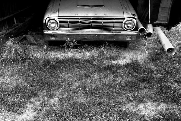 Receding Classic Ford Photography Art | Peter Welch