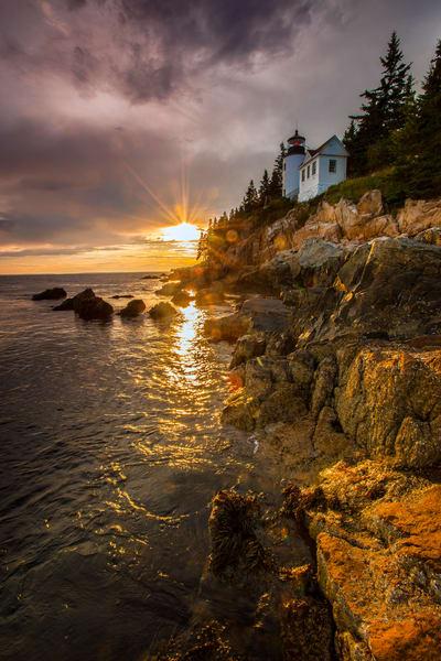 Bass Harbor Light Sunset Photography Art | Craig Primas Photography