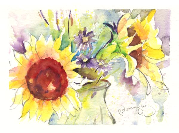Sunflower Vase Art | Patrick Dominguez Art