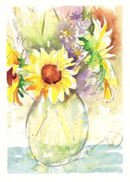 Sunflower Vase Ii Art | Patrick Dominguez Art