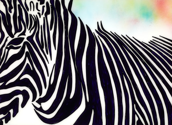 I The Moment of a Blue Sun | Zebra Art | JD Shultz