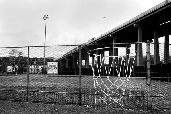 Right Field & Overpass Photography Art   Peter Welch