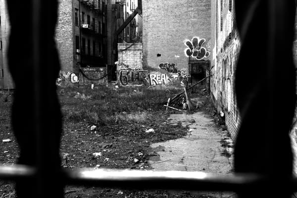 Graffiti & Empty Lot, Lower East Side Photography Art by Peter Welch