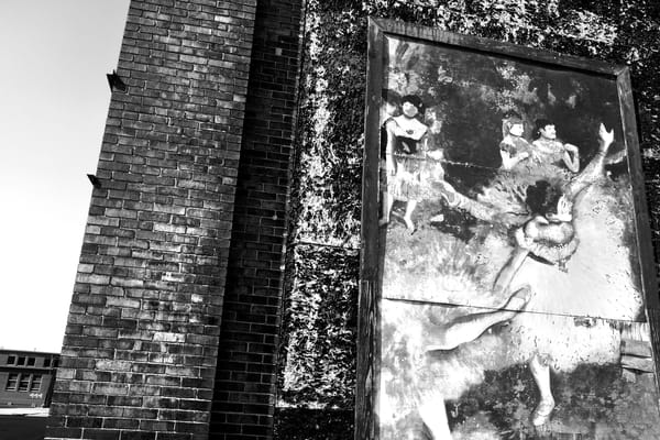 Degas Mural, Dayton Ohio Photography Art by Peter Welch