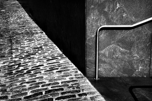 Cobble Stones & Handrail Photography Art | Peter Welch