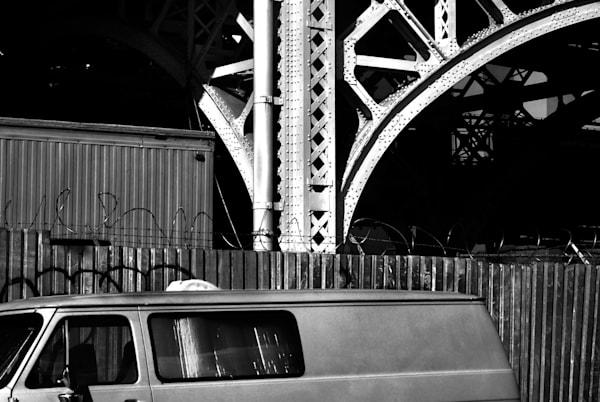 Chevy Van & Lattice Work Photography Art | Peter Welch