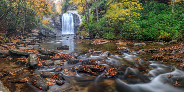 Autumn At Looking Glass Falls Photography Art | Red Rock Photography
