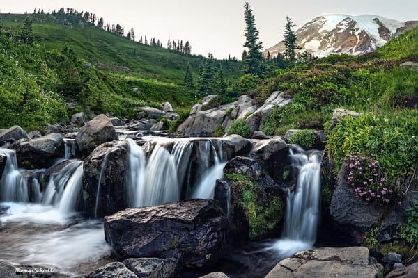 Mt Rainier National Park | Myrtle falls at sunrise fine art photo decor print formats