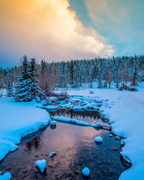 Duck Creek Winter Reflection Photography Art | Craig Primas Photography