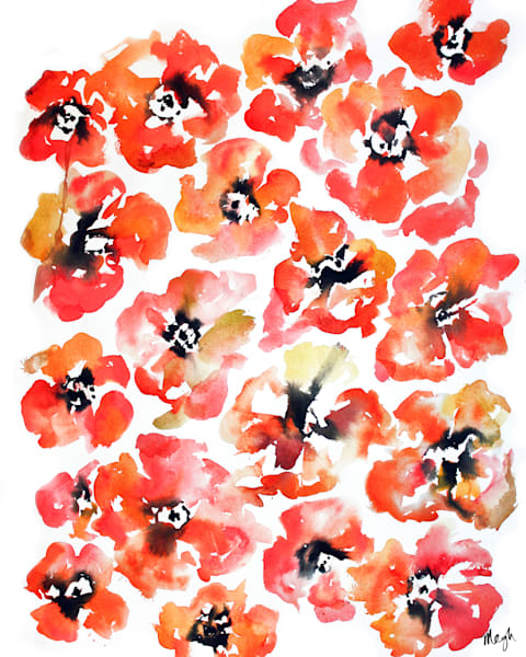 Poppies Watercolor, original