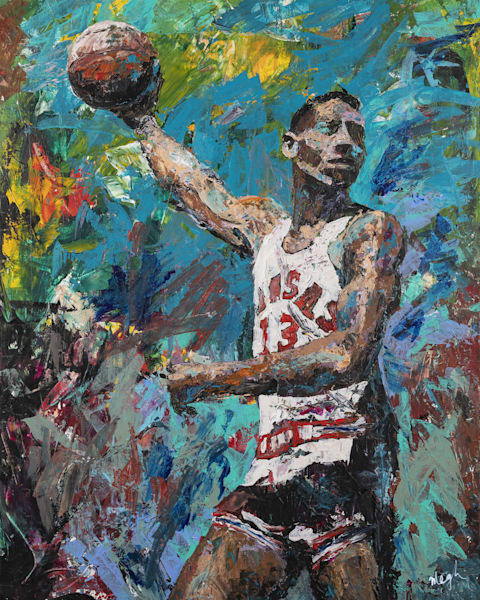 Wilt Chamberlain Painting: Shop Prints | Megh Knappenberger Art