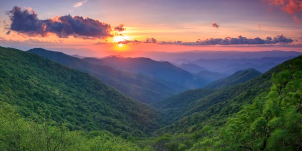 Craggy Sunset Art | Red Rock Photography
