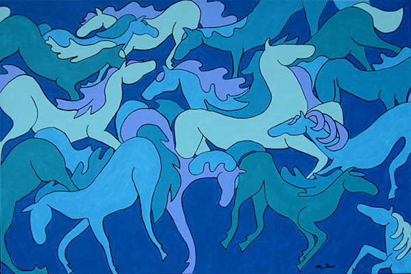 Blue Horses by Michele Taras | SavvyArt Market