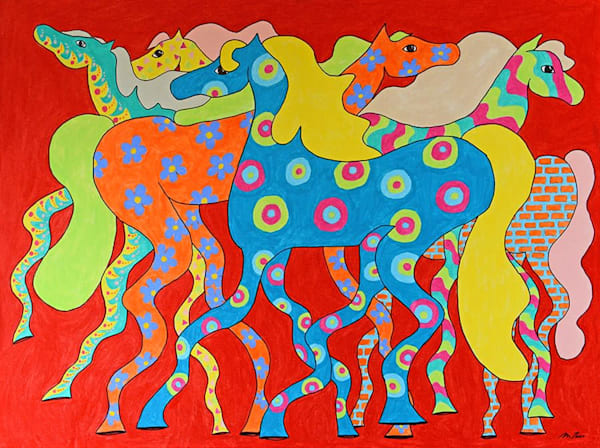 Colourful Horses by Michele Taras | SavvyArt Market