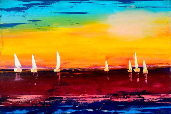 Silent Sailboats Art | benbonart