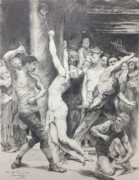 The Flagellation Of Our Lord Jesus Christ Art | Patrick Dominguez Art
