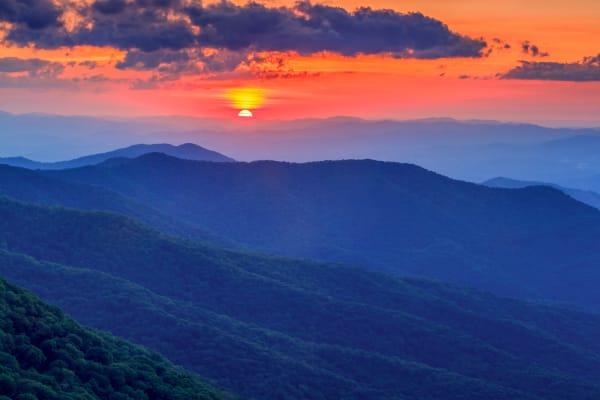 A Blue Ridge Sunset Art   Red Rock Photography