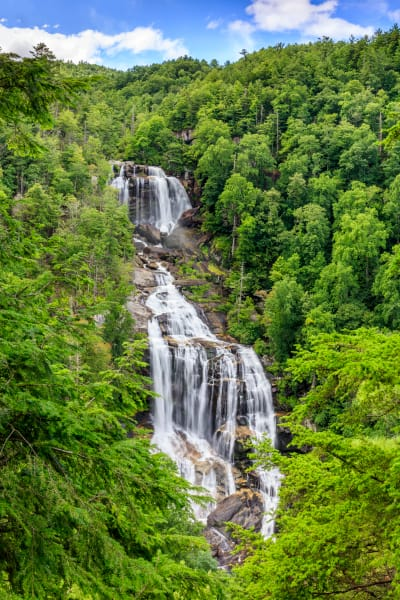 Blue Skies At Whitewater Falls Art | Red Rock Photography
