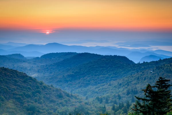 Black Balsam Sunrise Photography Art | Red Rock Photography