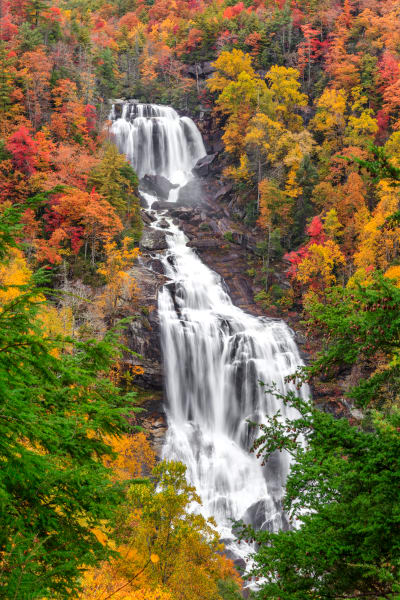 Autumn At Whitewater Falls Photography Art | Red Rock Photography