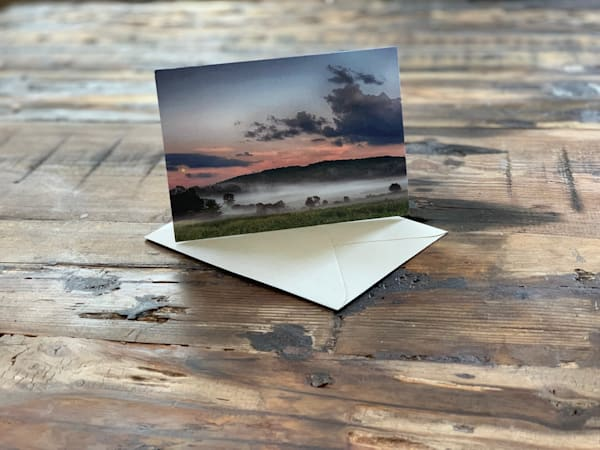 Full Moon Rise In Vermont | Fine Art Greeting Card | Sustainable and Recycled | Nathan Larson Photography