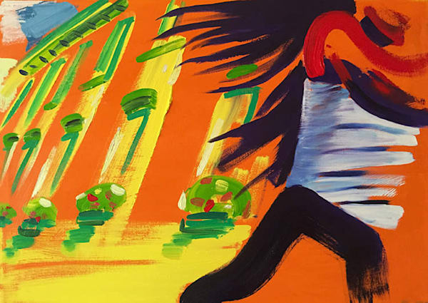 The Rush, oil on canvas, by Stuart Bush