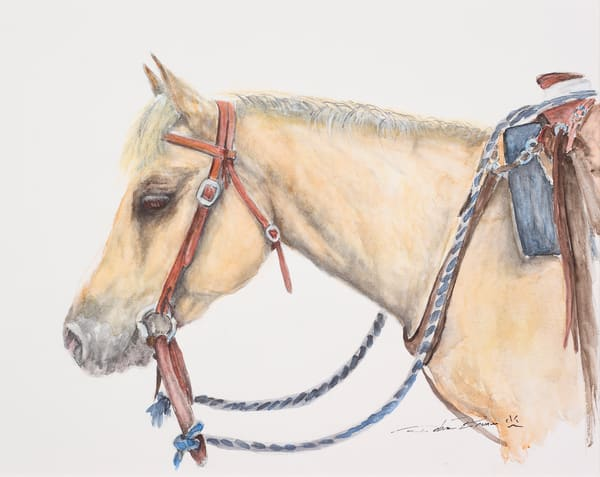The Little Yellow Horse  Art by debrabrunerstudio
