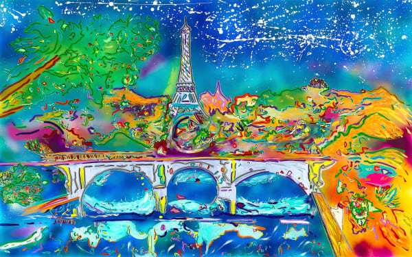 A Night In Paris | Places Art | JD Shultz Art