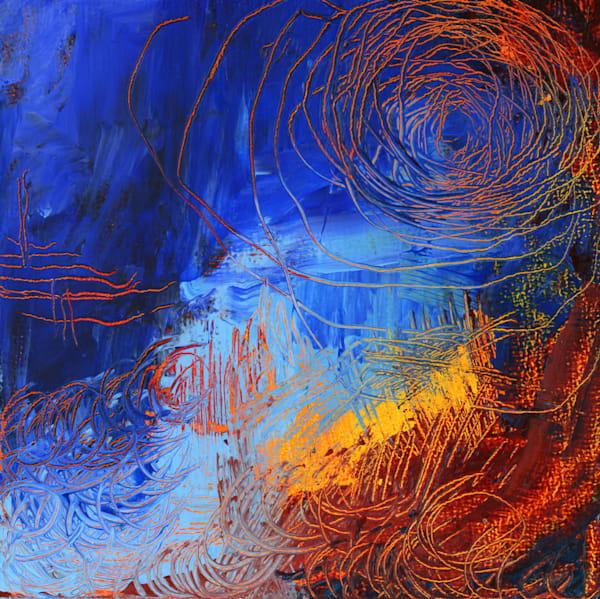Ocean Inside, Original Painting Art   Jessica Hughes Fine Art