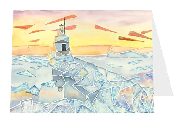 """""""Breaking Ice, Breakwater Light"""" Card   Inkdrop Gallery"""