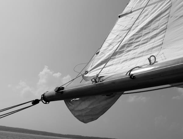 Monochrome Sail And Horizon Photography Art | TONYGRIDERIMAGES.COM